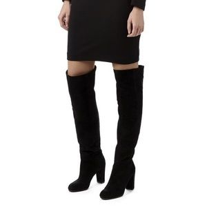 Nine West Snowfall black over the knee boots